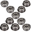 cheap 3D Printer Parts & Accessories-10Pcs Single Sided Flange Bearing Micro Stainless Steel F623ZZ  With Edge 3x10x4mm For 3D Printer