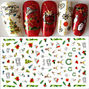 cheap Nail Stickers-1 pcs 3D Nail Stickers Nail DIY Tools Stickers nail art Manicure Pedicure 3D Fashion Daily