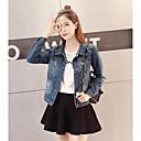 olcso Világítás Kiegészítők-Alkalmi Női Extra méret Traper jakne - Egyszínű, Tiszta szín Pamut