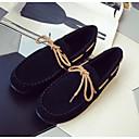 baratos Mocassins Femininos-Mulheres Sapatos Couro / Couro Ecológico Primavera Conforto Rasos Preto / Cinzento / Camel