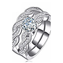cheap Rings-Women's Cubic Zirconia Ring - Zircon Infinity Fashion 6 / 7 / 8 Silver For Party / Daily / Casual