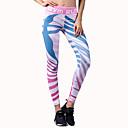 baratos Roupas para Corrida, Ioga & Fitness-BARBOK Mulheres Calças de Yoga Esportes Moderno Elastano Meia-calça / Leggings Corrida, Fitness, Ginásio Roupas Esportivas Esticar Com Stretch