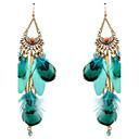 cheap Earrings-Women's Tassel Drop Earrings - Feather Personalized, Tassel, Vintage Orange / Red / Blue For Stage / Going out / Oversized
