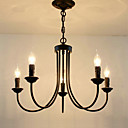 cheap Chandeliers-5-Light Candle-style Chandelier Ambient Light - Candle Style, 110-120V / 220-240V Bulb Not Included / 5-10㎡ / E12 / E14