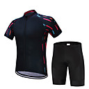 cheap Makeup Brush Sets-FUALRNY® Cycling Jersey with Shorts Men's Short Sleeves Bike Clothing Suits Bike Wear Quick Dry Moisture Permeability Reflective Strips