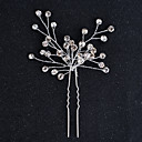 cheap Jewelry Sets-Alloy Headwear / Hair Pin with Floral 1pc Wedding / Special Occasion / Halloween Headpiece