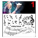abordables Tatuajes Temporales-Brillante / Non Toxic / Modelo Rostro / Cuerpo / manos Los tatuajes temporales 1 pcs Serie de mensajes Artes de cuerpo / Parte Lumbar / Waterproof