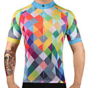 cheap Cycling Jerseys-FUALRNY® Men's Short Sleeve Cycling Jersey Plaid Argyle Bike Jersey Top, Quick Dry 100% Polyester / High Elasticity