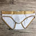tanie Męskie mokasyny-Męskie Solidne kolory Seksowny Slipy 1 sztuka Obniżone