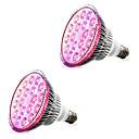 billige LED Økende Lamper-2pcs 18 W 1620-1800 lm E26 / E27 Voksende lyspære 18 LED perler Høyeffekts-LED Rød / Blå 85-265 V / 2 stk. / RoHs / FCC