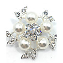 cheap Party Accessories-Women's Brooches - Roses, Flower Brooch Silver For Wedding / Party / Gift / Daily