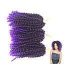 cheap Hair Braids-Braiding Hair Jerry Curl Curly Braids 100% kanekalon hair Hair Braids 100% kanekalon hair / There are 3 piece in one pack. Normally 5-6 pack are enough for a full head.