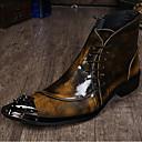olcso Férfi csizmák-Férfi Formális cipők Nappa Leather Ősz / Tél Vintage Csizmák Bokacsizmák Fekete / Szürke / Világosbarna / Party és Estélyi