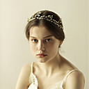 cheap Necklaces-Gemstone & Crystal / Tulle / Rhinestone Tiaras / Headpiece with Crystal / Feather 1 Wedding / Special Occasion / Anniversary Headpiece
