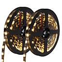 cheap LED Strip Lights-HKV 10m Flexible LED Light Strips 300 LEDs 5050 SMD Warm White / White / Blue Cuttable / Self-adhesive 12 V