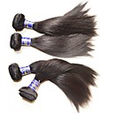 cheap Human Hair Weaves-Wholesale top quality peruvian silk straight hair bundles 6pcs 600g lot for two head installed 100% real original virgin human hair natural color