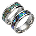 cheap Men's Rings-Men's Band Ring - Titanium Steel Fashion 6 / 7 / 8 Dark Blue / Green For Daily