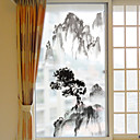 olcso Fóliák & matricák ablakra-Art Deco Karácsony Ablak matrica, PVC/Βινύλιο Anyag Ablakstílus Nappali
