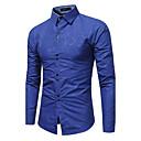 abordables Oxfords para Hombre-Hombre Tejido Oriental Tallas Grandes Camisa Un Color / Manga Larga