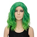 cheap Synthetic Capless Wigs-Synthetic Wig Women's Water Wave Green Synthetic Hair Ombre Hair Green Wig Short Capless Green