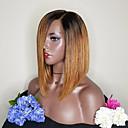 olcso Emberi hajból készült parókák-Remy haj Csipke eleje Paróka Brazil haj Egyenes Paróka Bob frizura 130% Haj denzitás 100% Szűz Női Közepes Emberi hajból készült parókák