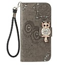 cheap Cell Phone Cases & Screen Protectors-Case For Huawei P10 Lite Card Holder Wallet Rhinestone with Stand Flip Pattern Embossed Full Body Cases Owl Hard PU Leather for P10 Lite