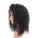 olcso Emberi hajból készült parókák-Emberi haj Csipke eleje Paróka Brazil haj Kinky Curly Paróka 130% Afro-amerikai paróka / 100% kézi csomózású Női Közepes Emberi hajból készült parókák / Kinky Göndör