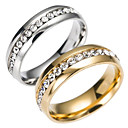 cheap Men's Rings-Men's Band Ring Eternity Ring - Stainless Steel Fashion 6 / 7 / 8 / 9 / 10 Gold / Silver For Daily