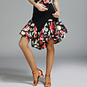 baratos Roupas de Dança Latina-Dança Latina Tutos e Saias Mulheres Espetáculo Elastano / Seda Sintética Estampa Natural Saias