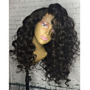 cheap Human Hair Wigs-women human hair lace wig peruvian human hair glueless lace front 130% density with baby hair curly wig black long natural hairline