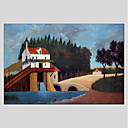 cheap Landscape Paintings-Oil Painting Hand Painted - Landscape Classic Canvas