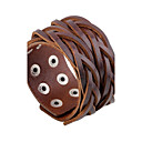 cheap Brooches-Men's Leather Bracelet - Leather Punk, Rock, Fashion Bracelet Black / Coffee For Daily / Casual