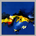 cheap Abstract Paintings-Oil Painting Hand Painted - Abstract Artistic Canvas / Stretched Canvas