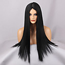 cheap Synthetic Capless Wigs-Synthetic Wig Straight Synthetic Hair Middle Part Black Wig Women's Long / Very Long Capless Natural Black