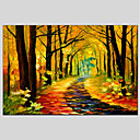 cheap Abstract Paintings-Oil Painting Hand Painted - Landscape Comtemporary Canvas