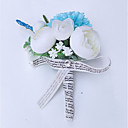 cheap Wedding Garters-Wedding Flowers Boutonnieres Wedding Polyester 3.94 inch