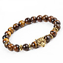 cheap Men's Bracelets-Men's / Women's Onyx Strand Bracelet / Bracelet - Natural Bracelet Brown For Party / Gift