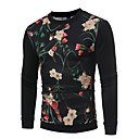 cheap Men's Rings-Men's Long Sleeves Sweatshirt Print Round Neck