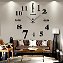 cheap Wall Stickers-Modern / Contemporary Stainless Steel / EVA Round Indoor / Outdoor,AAA Wall Clock