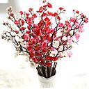 זול עגילים אופנתיים-פרחים מלאכותיים 10 ענף ארופאי שזיף פרחים לשולחן