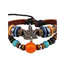 cheap Men's Bracelets-Men's Women's Leather Bracelet - Leather Leaf Vintage Bracelet Brown For Casual Going out
