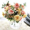 baratos Flor artificiali-Flores artificiais 1 Ramo Pastoril Estilo Rosas Flor de Mesa