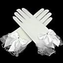 billige Hansker til fest-Netting Håndleddslengde Hanske Transparent Brudehansker Hansker til fest/aftenbruk With Rhinsten Sløyfe Drapert