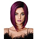 cheap Synthetic Capless Wigs-Synthetic Wig Straight Bob Haircut Synthetic Hair 100% kanekalon hair Purple Wig Women's Medium Length Capless