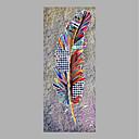 halpa Kukkamaalaukset-Hang-Painted öljymaalaus Maalattu - Kukkakuvio / Kasvitiede Abstrakti Kangas