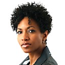 cheap Synthetic Capless Wigs-Synthetic Wig Afro / Kinky Curly Synthetic Hair African American Wig Black Wig Women's Short Capless