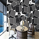 cheap Wall Murals-3D Special Design Geometry Home Decoration Simple Style Modern/Contemporary Wall Covering, Canvas Material Adhesive required Mural, Room