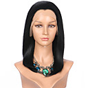 cheap Synthetic Capless Wigs-Synthetic Lace Front Wig Straight Bob Haircut Synthetic Hair Black Wig Women's Medium Length Lace Front