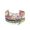 cheap Women's Boots-Women's Wrap Bracelet / Leather Bracelet - Infinity Punk, Fashion Bracelet Rainbow For Daily / Casual / Stage