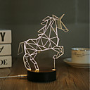 cheap Night Lights-1 Set, Popular Home Acrylic 3D Night Light LED Table Lamp USB Mood Lamp Gifts, Horse